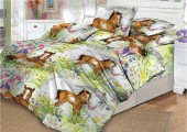 Детское постельное белье Valtery поплин 1,5-спальное 50х70 см арт. DL-10 На лугу