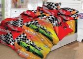 Детское постельное белье Valtery поплин 1,5-спальное 50х70 см арт. DL-12 Мото