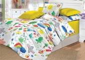 Детское постельное белье Valtery поплин 1,5-спальное 50х70 см арт. DL-3 Радуга