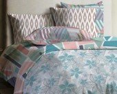 Постельное белье Mona Liza Lagoon ранфорс 1,5-спальный 70х70 арт.Flower