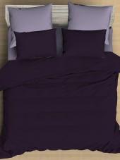 Постельное белье Amore Mio сатин однотонный 2-спальное макси на резинке 70х70 см арт. BZ QR Grape