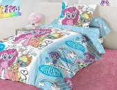 Детское постельное белье Mona Liza бязь 1,5-спальное 50х70 см Little Pony ICE CREAM