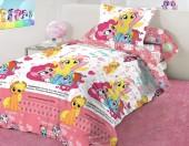 Детское постельное белье Mona Liza бязь 1,5-спальное 50х70 см Little Pony INSTAGRAM