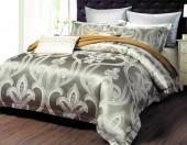 Постельное белье Valtery шелковый жаккард с вышивкой 2-спальное 4 наволочки арт. L-34