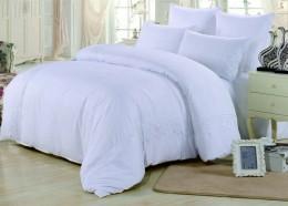 Постельное белье Valtery софткоттон с гипюром 1,5-спальное 70х70 см арт. MG-04