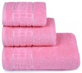Полотенце махровое Cleanelly Megapolis хлопок 50х90 см цв.Розовый