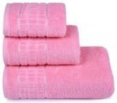 Полотенце махровое Cleanelly Megapolis хлопок 70х130 см цв.Розовый