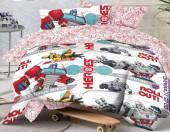 Детское постельное белье Mona Liza бязь 1,5-спальное 50х70 см Transformers MEGATRON