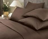 Постельное белье Веросса страйп-сатин Роял Mokko 1,5-спальное 70х70 см