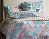 Постельное белье Mona Liza Lagoon ранфорс 1,5-спальный 70х70 арт.Pier