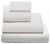 Полотенце махровое Cleanelly Plait хлопок 100х150 см цв.Белый