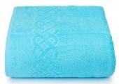 Махровая простыня Cleanelly Plait Бирюзовый хлопок 150х200 см