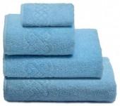 Полотенце махровое Cleanelly Plait хлопок 100х150 см цв.Голубой