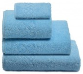 Махровая простыня Cleanelly Plait Голубой хлопок 200х220 см
