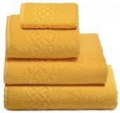 Полотенце махровое Cleanelly Plait хлопок 100х150 см цв.Желтый