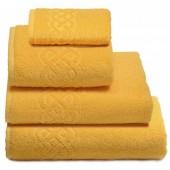 Махровая простыня Cleanelly Plait Желтый хлопок 200х220 см