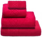 Полотенце махровое Cleanelly Plait хлопок 30х70 см цв.Малиновый