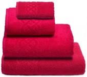 Полотенце махровое Cleanelly Plait хлопок 50х90 см цв.Малиновый