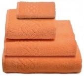 Полотенце махровое Cleanelly Plait хлопок 100х150 см цв.Персиковый