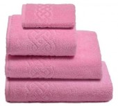 Полотенце махровое Cleanelly Plait хлопок 100х150 см цв.Розовый