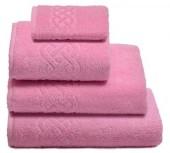 Полотенце махровое Cleanelly Plait хлопок 50х90 см цв.Розовый