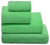 Полотенце махровое Cleanelly Plait хлопок 30х70 см цв.Салатовый