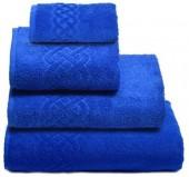 Полотенце махровое Cleanelly Plait хлопок 100х150 см цв.Синий