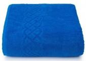 Махровая простыня Cleanelly Plait Синий хлопок 150х200 см