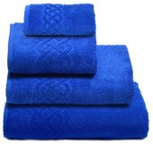 Махровая простыня Cleanelly Plait Синий хлопок 200х220 см