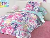 Детское постельное белье Mona Liza бязь 1,5-спальное 50х70 см Little Pony TEAM