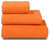 Полотенце махровое Cleanelly Poseidon хлопок 100х150 см цв.Оранжевый