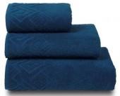 Полотенце махровое Cleanelly Poseidon хлопок 100х150 см цв.Синий