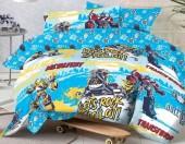 Детское постельное белье Mona Liza бязь 1,5-спальное 50х70 см Transformers ROCK N ROLL