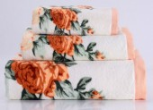 Полотенце махровое Valtery хлопок 70х140 см арт. Rosy-2