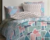 Постельное белье Mona Liza Lagoon ранфорс 2-спальный 70х70 арт.Shack