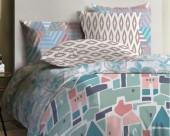 Постельное белье Mona Liza Lagoon ранфорс 1,5-спальный 50х70 арт.Shack