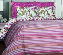 КПБ Mona Liza British бязь люкс 2-спальный 70х70 арт.Stripe bordo