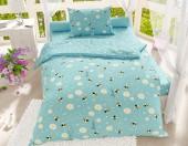 Детское постельное белье Svitweet НА РЕЗИНКЕ бязь ГОСТ 1,5-спальное 50х70 см арт.223 Пчелки голубой