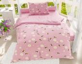 Детское постельное белье Svitweet НА РЕЗИНКЕ бязь ГОСТ 1,5-спальное 50х70 см арт.223 Пчелки розовый