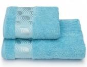 Полотенце махровое Cleanelly Tempesta Голубой хлопок 50х90 см