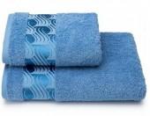 Полотенце махровое Cleanelly Tempesta Темно-голубой хлопок 50х90 см