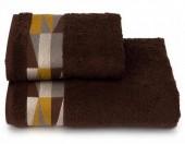 Полотенце махровое Cleanelly Triangoli Коричневый хлопок 50х90 см