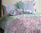Постельное белье Mona Liza Lagoon ранфорс 2-спальный 70х70 арт.Valley