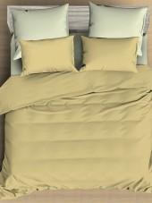 Постельное белье Amore Mio сатин однотонный евро на резинке 4 нав. арт. BZ Vanilla