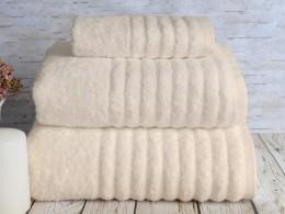 Полотенце махровое бамбук IRYA Wella Krem (крем) 50х90