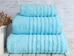 Полотенце махровое бамбук IRYA Wella Turkuaz (голубой) 50х90
