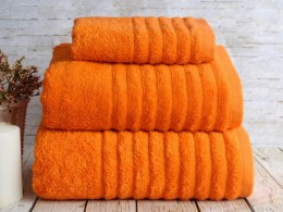 Полотенце махровое бамбук IRYA Wella Turuncu (оранж) 50х90