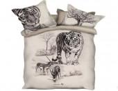 Постельное белье Mona Liza SL Sketch Art сатин панно 2-спальный 4 наволочки арт.Wild 5658/2