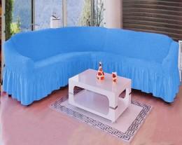 Чехлы для углового дивана + кресло (1 шт) Karbeltex бирюза