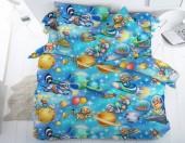 Детское постельное белье Svit бязь ГОСТ 1,5-спальное 70х70 см АСТРОНАВТЫ